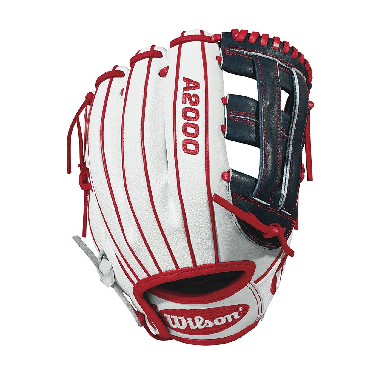 One of the best athletes in softball carries one of the hottest gamers. Sierra Romero's A2000® SR32 GM stands out with white SuperSkin™ and navy and red accents -- the type of piece that's set to make a statement the way Sierra will for years to come.     The Wilson A2000® fastpitch line is a serious glove for a serious player. The 2018 lineup is created with the Custom Fit™ System so that every fastpitch player can have a glove that Fit™s her hand -- no matter how tight she wears it. The superior feel and durability come from the premium Pro Stock leather that breaks in perfectly and lasts from one season to the next.
