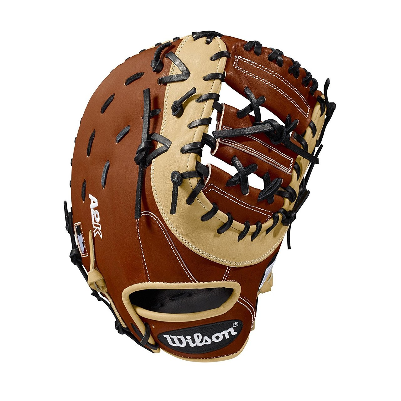 wilson-2018-a2k-1617-first-base-mitt-right-hand-throw-12-5 WTA2KRB181617-RightHandThrow Wilson 887768592073 12.5 first base model double horizontal bar web Copper blonde and