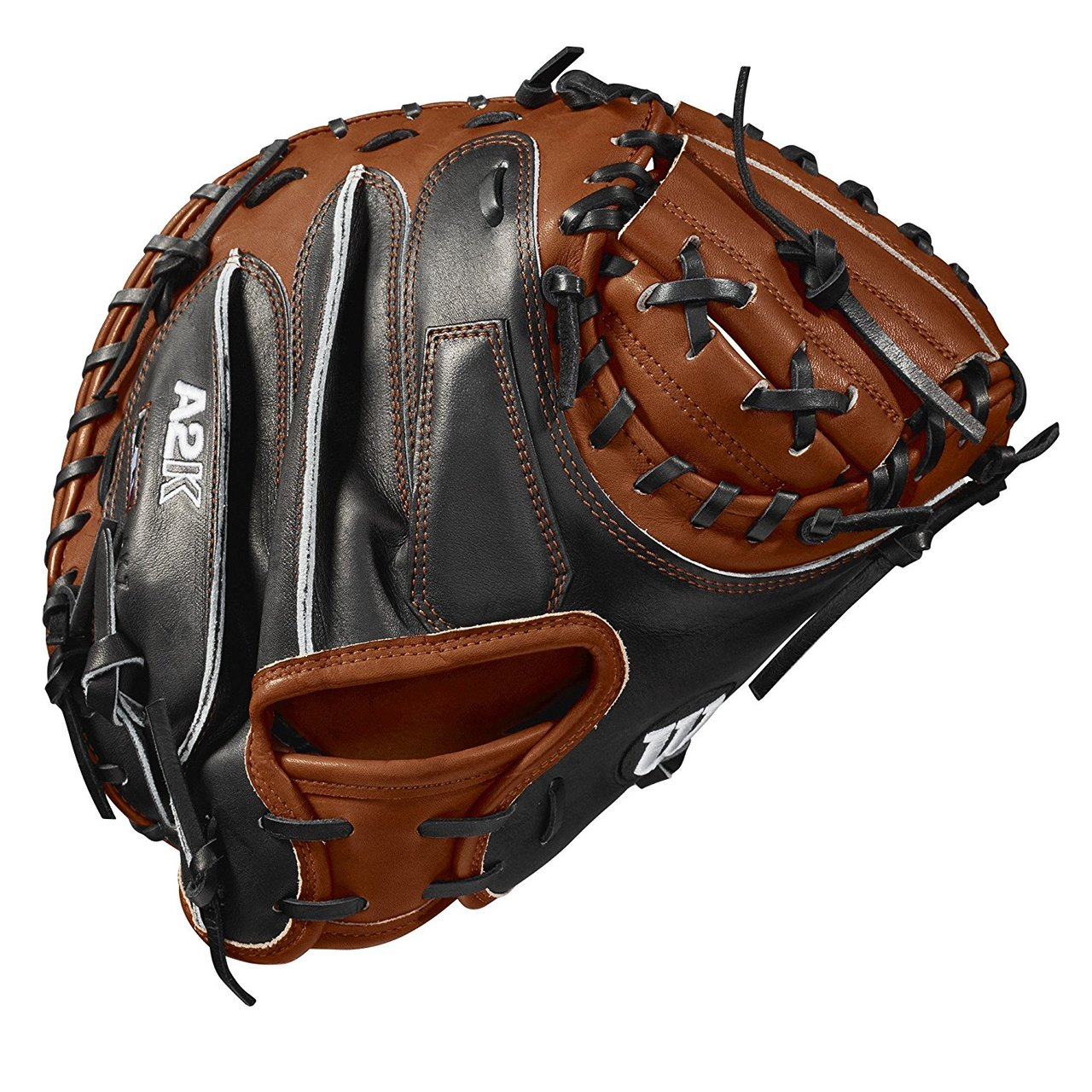 wilson-2018-a2k-m1-catchers-mitt-right-hand-throw-33-5-inch WTA2KRB18M1-RightHandThrow Wilson 887768592066 The Copper and Black A2K® M1 comes with a 12 Moon