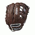 Wilson youth baseball gloves are intended for a younger, more advanced ball player who is looking to take their game to the next level. For the 2018 season, the A900 series is just what the doctor ordered to help get an edge on the diamond. Each model offers a cool, old-school look with the dark brown, full leather construction that comes game ready with absolutely zero break-in period. If you're sick and tired of having a sore wrist and knuckles from an extensive break-in, the A900 is just what you need. From day one, these baseball gloves are ready to go when you are. Plus, Wilson has applied their double palm construction on the front side of each design to help add extra stability and a low profile heel that allows for easier closure and less rebound on bad hops so that you can turn two without fail. Wilson: The Players' Choice! This Wilson A900 youth baseball glove (WTA09RB18115PF) features a popular 11.50-inch pattern, an I-web (Wilson's H-web), and a Pedroia Fit. With a smaller wrist opening and tighter finger stalls, this model is perfect for infielders who have smaller hands. Don't forget, we're here from click to catch!.