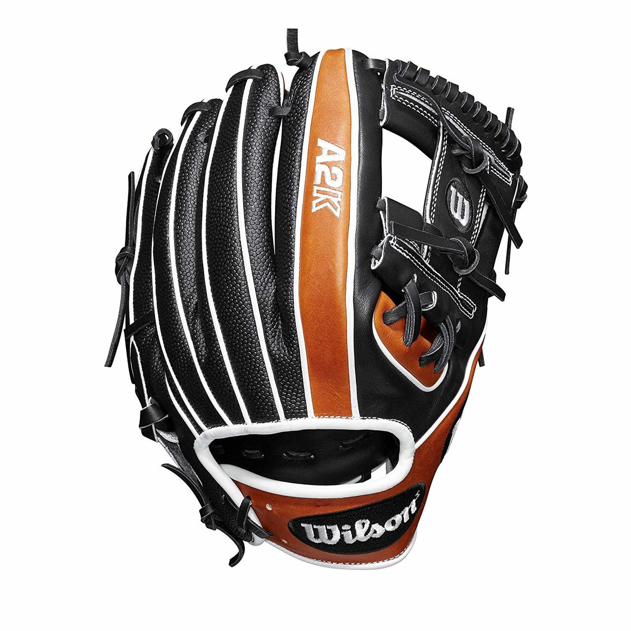 wilson-2019-a2k-baseball-glove-11-5-right-hand-throw WTA2KRB191786SS-RightHandThrow  887768701819 Infield model; H-Web Black SuperSkin twice as strong as regular leather