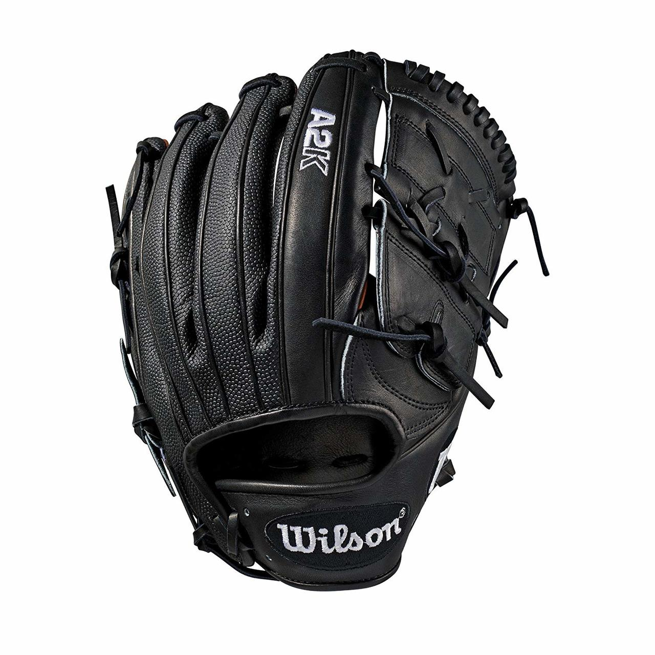 wilson-2019-a2k-baseball-glove-12-inch-right-hand-throw WTA2KRB19B2112SS-RightHandThrow  887768701840 Pitcher model; 2-piece web; available in right- and left-hand Throw Black