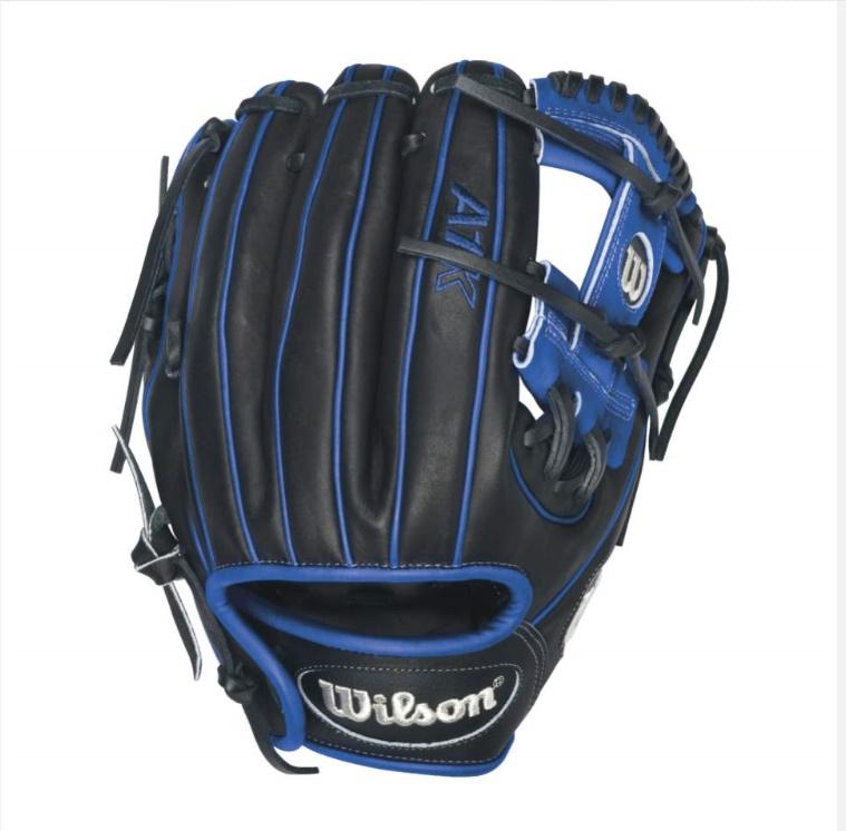 wilson-a1k-dp15-pedroia-fit-infield-baseball-glove-blackroyalwhite-right-hand-throw A1KRB16DP15B-RightHandThrow Wilson 887768359898 A1K DP15 Royal Blue Accents - 11.5 Wilson A1K DP15 Blue