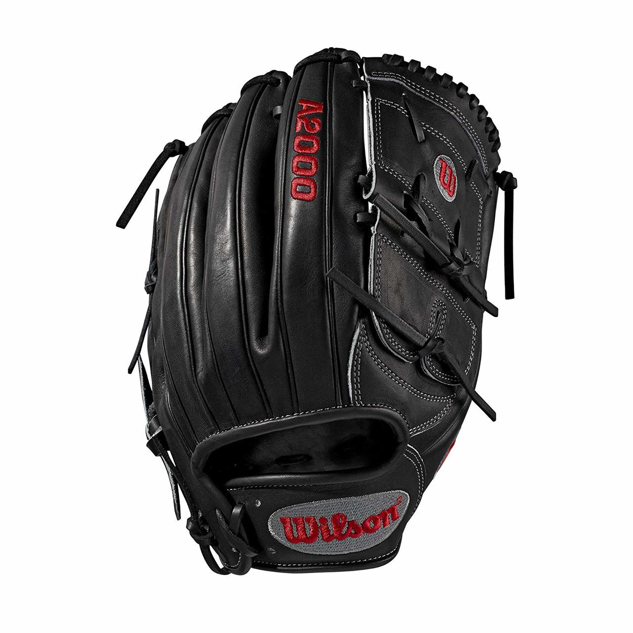 12 inch pitcher's glove Pitcher WTA20RB19B125 Two-piece web Black Pro Stock leather, preferred for its rugged durability and unmatched feel Dual welting for a durable pocket and long-lasting break-in