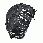 A2000 1617 SS - 12.5 Wilson A2000 1617 Super Skin Firstbase Baseball GloveA2000 1617 Super Skin 12.5 Firstbase Baseball Glove - Right Hand Throw A2000 1617 Super Skin 12.5 Firstbase Baseball Glove - Left Hand Throw WTA20RB171617SSWTA20LB171617SSThe A2000 1617 SS is Wilson's largest first base mitt, at 12.5 . It comes with a Double Horizontal Bars Web, with a combination of Pro Stock Leather and Super Skin for long-lasting use, as well as increased durability and lighter weight.The A2000 Super Skin baseball glove series is the utility player of the Wilson lineup. A versatile mix of Pro Stock Leather and man-made Super Skin makes the glove stonger, lighter and easier to break in that the all-leather A2000. 12.5 1st Base MittDouble Horizontal Bars WebPro Stock Leather combined with Super Skin for a light, long lasting glove and a great break-inDual Welting for a durable pocketDriLex Wrist Lining to keep your hand cool and dryAvailable in right hand throw and left hand throwFirstbaseBoth12.25 Double Horizontal BarsPro Stock Leather A2K 2800A2000 2800 A2000 T-shirtWilson Glove Care KitAso-San Glove Mallet Aso breaks in a first base mitt