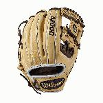 Infield model; I-Web Double lacing at the base of the web Blonde/Dark Brown/White Pro Stock leather, preferred for its rugged durability and unmatched feel Flat finger binding Dual welting for a durable pocket and long-lasting break-in