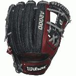 Get in the game with Wilson's most popular infield model. Preferred by MLB ballplayers like Elvis Andrus, Starlin Castro, and Darwin Barney, this 11.5 glove features a shallow pocket to help you get the ball in, out, and keep your ankles intact. Glove-lightening SuperSkin helps keep reaction time lightning fast.  The most famous baseball glove, the Wilson A2000, just keeps getting better. Wilson Glove Master Craftsman, Shigeaki Aso, refines the Pro Stock patterns with the insights of hundreds of MLB players every season. Made with Pro Stock leather and SuperSkin, the A2000 SuperSkin baseball glove series is built to break in perfectly and last for multiple seasons. SuperSkin is stronger and lighter than leather, so it makes for a glove with a quicker break in that lowers reaction time and repels moisture. It doesn't get better than that. 11.5 inch Infield Model H-Web Pro Stock Leather combined with SuperSkin for a light, long lasting glove and a great break-in Dual Welting for a durable pocket DriLex Wrist ining to keep your hand cool and dry.
