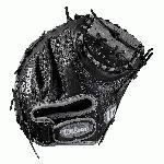 Catcher's model; half moon web; extended palm Velcro wrist strap for comfort and control Black SuperSkin, twice as strong as regular leather, but half the weight Black/grey Pro Stock leather for a long lasting glove and a great break-in Drilex wrist lining to keep your hand cool and dry.