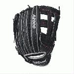 wilson a2000 1799 superskin baseball glove blackwhitered 12 75inch left hand throw