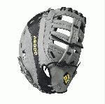 A2000 2800 - 12 Wilson A2000 2800 First Baseman GloveA2000 28000 12 First Base Baseball Glove - Right Hand Throw A2000 28000 12 First Base Baseball Glove - Left Hand Throw WTA20RB172800 WTA20LB172800 The A2000 2800 Wilson's most popular first base model, chosen by players like Hanley Ramirez and Mike Napoli. The innovative pocket designed with dual break points near the thumb and heel for optimal break in. The gray and black A2000 2800 was developed with a Reinforced Single Post Web to create a pocket that does exactly what it's supposed to do - keep the ball in the mitt. Constantly improving patterns. Materials that perform. Meticulous dependable construction. The evolution of the A2000 baseball glove has been driven by insights from the Wilson Advisory Staff. This is why hard working players love its unmatched feel, rugged durability and perfect break-in.12 First Base ModelReinforced Single Post WebPro Stock Leather for a long lasting glove and a great break-inDual Welting for a durable pocketDriLex Wrist Lining to keep your hand cool and dryAvailable in right hand throw and left hand throwFirst Base both12 Reinforced Single Post WebPro Stock Leather A2000 MC24 GM A2K 2800 Wilson A2000 T-Shirt A2000 Glove Care Kit Aso-San Glove Mallet Breaking in a First Baseman Mitt