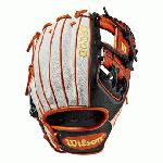 This time of year brings fall colors to everyone's mind. We decided to run with it in this custom A2000 1786 with a White SuperSkin with Black and Orange Pro Stock Leather. This new take on our most popular infield model is unlike anything you've seen before - just in time for Halloween. Each month, Wilson unveils a new A2K or A2000 Glove of the Month -- a unique limited-edition Pro Stock ball glove available only in-store from select dealers. Past Glove of the Month gloves have included player customs, one-of-a kind models and fan-designed contest winners. A portion of the proceeds go to Pitch in for Baseball, a longtime Wilson charity partner.