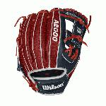 Honor the Stars and Stripes and celebrate the Fourth of July with this Red, White and Blue custom A2000 1786. Our most popular middle infield glove, complete with Red Superskin – making it lighter and more durable than traditional leather models. Each month, Wilson unveils a new A2K or A2000 Glove of the Month -- a unique limited-edition Pro Stock ball glove available only in-store from select dealers. Past Glove of the Month gloves have included player customs, one-of-a kind models and fan-designed contest winners. A portion of the proceeds go to Pitch in for Baseball, a longtime Wilson charity partner.