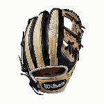 "Our most popular middle infield glove returns this month in this custom 11.5"" Black and Blonde A2000 1786, complete with red stitching. It features alternating Black and Blonde back finger panels. Our most beloved model and colorway come together impeccably in this latest variation. Each month, Wilson unveils a new A2K or A2000 Glove of the Month -- a unique limited-edition Pro Stock ball glove available only in-store from select dealers. Past Glove of the Month gloves have included player customs, one-of-a kind models and fan-designed contest winners. A portion of the proceeds go to Pitch in for Baseball, a longtime Wilson charity partner."