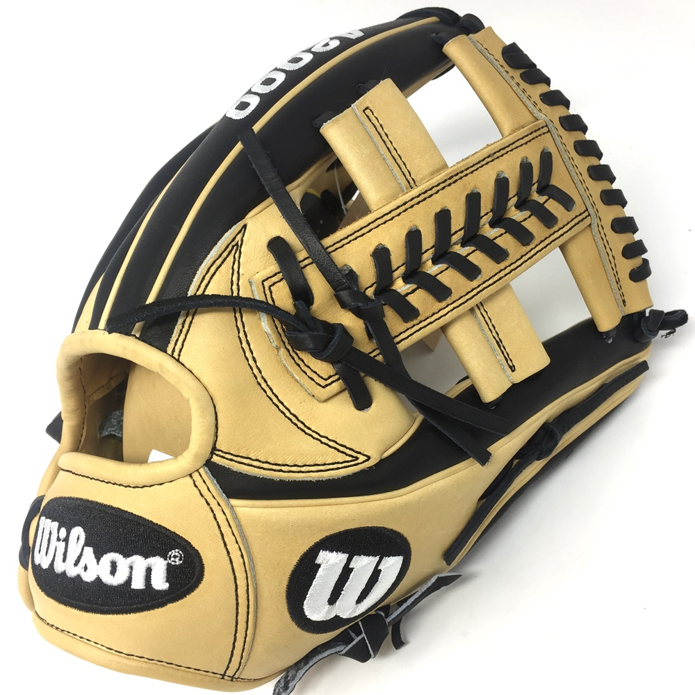 """This 11.75 custom A2000 1785 features our most popular colorway, combining Black and Blonde Pro Stock leather flawlessly. A Cross Web and new gap welting allows for better stability and control in the pocket. With a clean look, let the plays you make do the talking.This 11.75"""" custom A2000 1785 features our most popular colorway, combining Black and Blonde Pro Stock leather flawlessly. A Cross Web and new gap welting allows for better stability and control in the pocket. With a clean look, let the plays you make do the talking."""