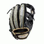 This custom A2000 1787 means business. With Black Pro Stock Leather and Grey Snakeskin printed steerhide, paired with Blonde accents and white logos, this glove is a one-of-a-kind beauty. Each month, Wilson unveils a new A2K or A2000 Glove of the Month -- a unique limited-edition Pro Stock ball glove available only in-store from select dealers. Past Glove of the Month gloves have included player customs, one-of-a kind models and fan-designed contest winners. A portion of the proceeds go to Pitch in for Baseball, a longtime Wilson charity partner.