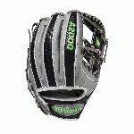 Show off your dark side with the April GOTM model. Black SnakeSkin and Grey Pro Stock Leather pair perfectly with Neon Green logos and stitching in a look that's undoubtedly got a bite to it. Each month, Wilson unveils a new A2K or A2000 Glove of the Month – a unique limited-edition Pro Stock ball glove available only in-store from select dealers. Past Glove of the Month gloves have included player customs, one-of-a kind models and fan-designed contest winners. A portion of the proceeds go to Pitch in for Baseball, a longtime Wilson charity partner. ul liA2000/li li11.5/li liH-Web/li liBlack SnakeSkin Pro Stock Leather/li liGrey Pro Stock Leather/li li/li li table id=product-attribute-specs-table class=data-table tbody tr class=first odd td class=data attribute last valign=topWTA20RB19LEAPR/td /tr tr class=even td class=label valign=topGlove Series/td td class=data attribute last valign=topA2000/td /tr tr class=odd td class=label valign=topGlove Size/td td class=data attribute last valign=top11.5/td /tr tr class=even td class=label valign=topThrowing Hand/td td class=data attribute last valign=topRight/td /tr tr class=odd td class=label valign=topGlove Type/td td class=data attribute last valign=topGlove of the Month/td /tr tr class=last even td class=label valign=topPosition/td td class=data attribute last valign=topInfield/td /tr /tbody /table /li /ul