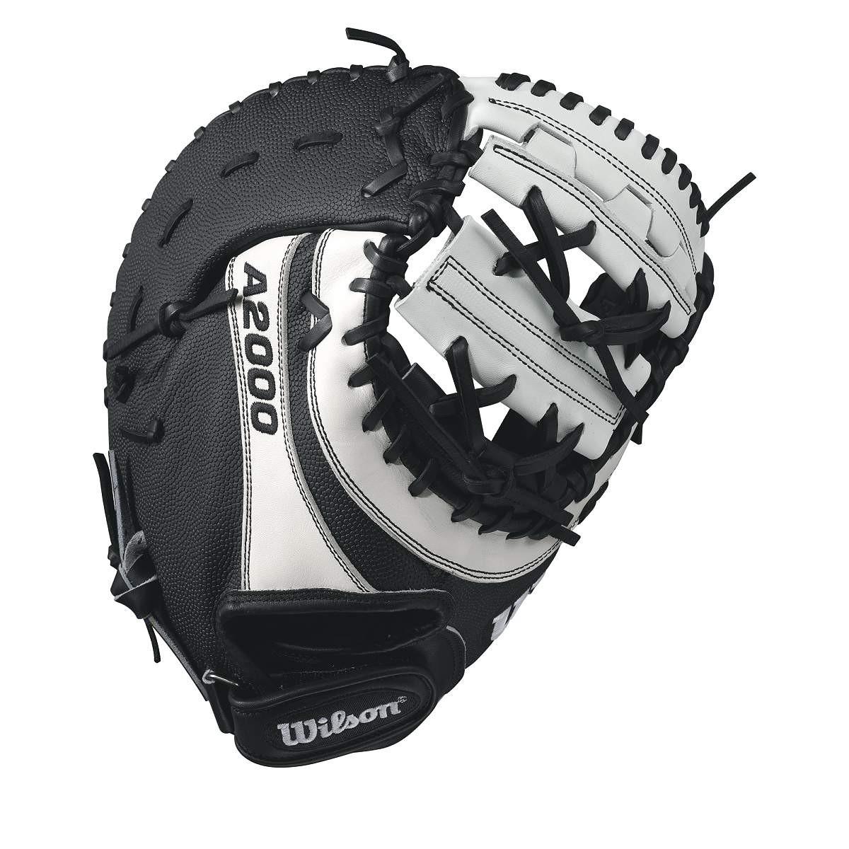 wilson-a2000-bm12-superskin-fastpitch-glove-blackwhite-12-left-hand-throw A20LF17BM12SS-LeftHandThrow Wilson 887768499518 The Wilson A2000 BM12 SS fastpitch first base mitt was designed