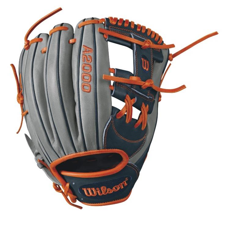 wilson-a2000-carlos-correa-game-model-infield-baseball-glove-greynavyorange A20RB17CC1GM-RightHandThrow Wilson 887768499372 A2000 CC1 GM - 11.75 Wilson A2000 CC1 GM Infield Bsaeball