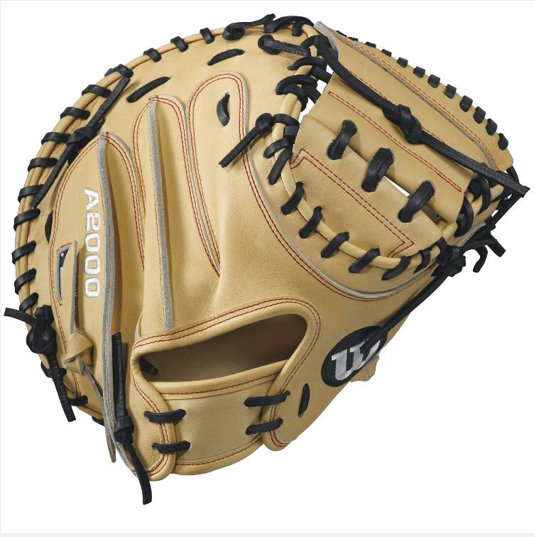 wilson-a2000-cm33-baseball-glove-blondered-33inch-right-hand-throw A20RB17CM33-RightHandThrow Wilson 887768499440 A2000 CM33 33 inch Wilson A2000 CM33 Catchers Mitt. The all