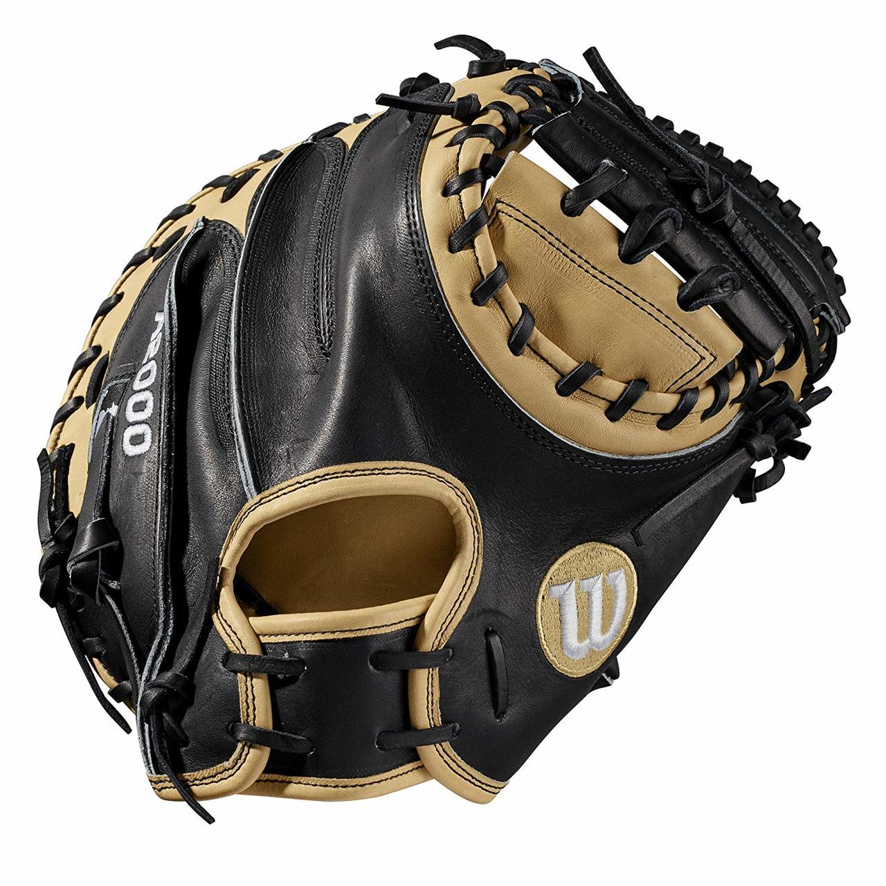 wilson-a2000-cm33-catchers-mitt-33-right-hand-throw-2019 A20RB19CM33-RightHandThrow Wilson 887768702038 Catchers model; half moon web Extended palm MLB most popular catchers