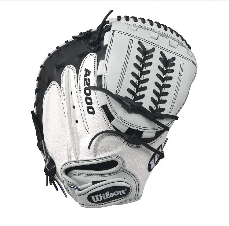 wilson-a2000-cm34-superskin-fastpitch-glove-blackwhite-34inch-right-hand-throw A20RF17CMSS-RightHandThrow Wilson 887768499600 A2000 CM34 WS - 34 Wilson A2000 CM34 White Super Skin