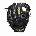 11.5 inch infield WTA20RB19DP15 Made with pedroia fit for players with a smaller hand H-Web design Black Pro Stock leather, preferred for its rugged durability and unmatched feel Dual welting for a durable pocket and long-lasting break-in
