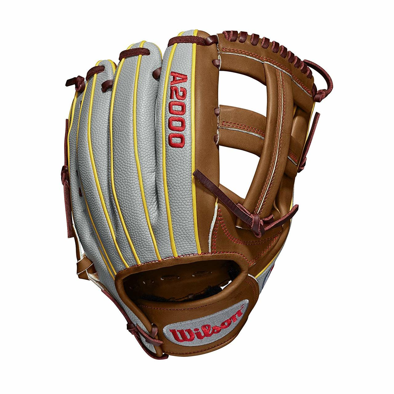 wilson-a2000-dp15-pedroia-fit-11-75-baseball-glove-2019-right-hand-throw WTA20RB19DP15GM-RightHandThrow  887768732288 Game WTA20RB19DP15GM for Dustin pedroia; Cross web Grey SuperSkin with saddle