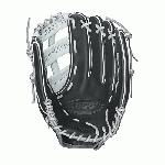 "Wilson Fast Pitch Softball Glove. The Wilson A2000 1275SS Fastpitch Softball Glove features a 12.75"" outfield dual post pattern that is designed to take your game to the next level. The 12.75"" pattern of the Wilson A2000 1275SS make for a great outfield glove. The 1275SS Fastpitch Softball Glove comes equipped with a new comfort velcro wrist closure and a D-Fusion pocket pad to reduce ball sting. The 1275SS Fastpitch Softball Glove is constructed from a combination of Pro Stock leather and SuperSkin material for a light, long lasting glove that is sure to last. For added pocket support the 1275SS comes with Dual Welting down the back of the fingers and pocket. 12.75. Outfield Model. Dual Post Web. Fastpitch-specific model. New Comfort Velcro Wrist Closure for a secure and comfortable fit. D-Fusion pocket pad creates No Sting Catch Zone. Pro Stock Leather combined with SuperSkin for a light, long lasting glove and a great break-in. Dual Welting for a durable pocket."