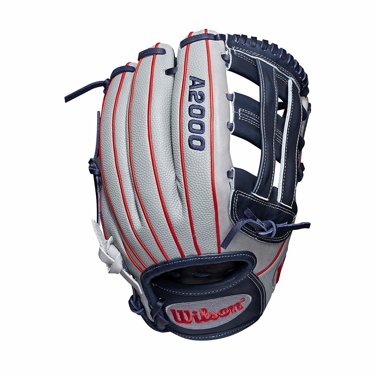 wilson-a2000-fasptich-softball-glove-sierra-romero-12-inch-right-hand-throw WTA20RF19SR32GM-RightHandThrow Wilson 887768732233 12 infield glove Dual post web Grey SuperSkin twice as strong