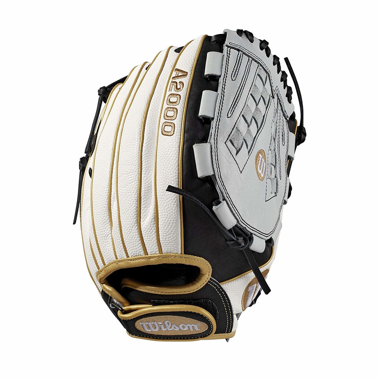 wilson-a2000-fast-pitch-softball-glove-12-5-right-hand-throw-a20rf19v125ss WTA20RF19V125SS-RightHandThrow  887768702151 Outfield model; fast pitch-specific model; Victory web Comfort Velcro wrist closure