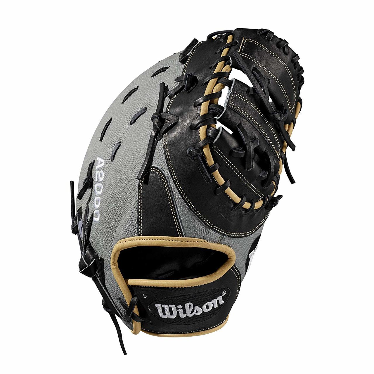 wilson-a2000-first-base-mitt-1617ss-12-5-right-hand-throw-2019 WTA20RB191617SS-RightHandThrow Wilson 887768702021 First base model; double horizontal bar web; available in right- and