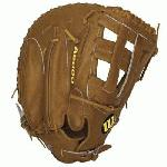 Wilson A2000 First Base Mitt BB1883 Tan 12 inch (Left Handed Throw) : The Wilson A2000 puts unbeatable craftsmanship in the palm of your hand. Wilson spent countless hours working with the MLB players to further refine the glove that has outperformed and outlasted all others for almost 60 years. The line is expertly constructed with world famous Pro Stock leather to provide durable performance game after game. The result the perfect glove for hardworking players everywhere.