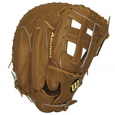 Wilson A2000 First Base Mitt BB1883 Tan 12 inch (Right Handed Throw) : The Wilson A2000 puts unbeatable craftsmanship in the palm of your hand. Wilson spent countless hours working with the MLB players to further refine the glove that has outperformed and outlasted all others for almost 60 years. The line is expertly constructed with world famous Pro Stock leather to provide durable performance game after game. The result the perfect glove for hardworking players everywhere.