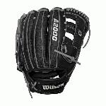 Step up your game with the Wilson A2000 G4 SS. This incredibly long lasting baseball glove was developed with a reinforced H-Web to maintain as shallow of a pocket as possible, and the 11.5 length is perfect for middle infielders. The combination of SuperSkin and Pro Stock Leather mean you'll be using the A2000 G4 SS season after season. Wilson spent decades working with MLB players to refine the A2000 baseball glove so that it outperforms and outlasts all others. This A2000® SuperSkin™ baseball glove combines ruggedly durable Pro Stock™ Leather with a stronger, lighter, and softer man-made material, SuperSkin, to speed up break in, lower your reaction time and repel moisture. 11.5 Infield Model. Reinforced H-Web. Pro Stock Leather combined with SuperSkin™ for a light, long lasting glove and a great break-in Dual Welting for a durable pocket DriLex Wrist Lining to keep your hand cool and dry.
