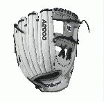 A2000 FP12 - 12 Wilson A2000 FP12 12 Infield Fastpitch GloveA2000 FP12 Infield Fastpitch Glove - Right Hand ThrowWTA20RF17H12The black and white A2000 FP12 was developed with Wilson's Pro Stock leather for unmatchable durability. Great for middle infielders and pitchers, this 12 model features an H-web that helps create a pocket that is perfect for dual-position players.A serious glove for a serious ballplayer. The fastpitch A2000 lineup is created with the Custom Fit System so that every fastpitch player can have a glove that fits her hand - no matter how tight she wears it. The superior feel and durability come from the premium Pro Stock leather that breaks in perfectly and lasts from one season to the next.12 Infield ModelDual Post WebFastpitch-specific model Comfort Velcro Wrist Closure for a secure and comfortable fitD-Fusion pocket pad creates No Sting Catch ZonePro Stock LeatherDual Welting for a durable pocketAvailable in right hand throw and left hand throw InfieldRHT 12 H-Web Pro Stock Leather A2000 FP12SSA2000 FP1175 Onyx P12 A2000 Glove Care Kit Aso-San Glove Mallet Wilson Fastpitch: Your Glove is Your Glove
