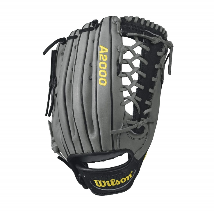 wilson-a2000-kp92-outfield-baseball-glove-greyblack-12-5inch-right-hand-throw A20RB17KP92-RightHandThrow Wilson 887768499389 A2000 KP92 - 12.5 Wilson A2000 KP92 Outifeld Baseball GloveA2000 KP92