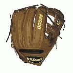Wilson A2000 Baseball Glove. H Web, Pedroia Fit, Game Model for Dustion Pedroia. Wilson A2000 DP15 Baseball Glove 11.50 Inch A20RB15DP15GM. 11.5 Inch Baseball Infield Model. Dustin Pedroia's Game Model Glove. Extra Long Lacing. Low Impact Heel. Rolled Dual-Welting for quicker break in. Pro Stock Leather for a long lasting glove and a great break-in. DriLex Wrist Lining to keep your hand cool and dry. One of the most popular A2000 over that last few years. The Wilson A2000 DP15GM is made to the exact specifications that Dustin Pedroia uses in games. This A2000 is perfect for any middle infielder that is looking for a smaller glove that provides extra feel. The DP15GM Wilson A2000 Baseball Glove is the exact same glove Dustin Pedroia uses on the field and features a few special changes designed specifically for him. The heel of this Wilson A2000 has no heel pad for a better feel of the ball and the lacing is extra-long. The web on this A2000 Baseball Glove is an H-web design perfect for middle infield and designed to provide a proper shape for a perfect pocket. While this Dustin Pedroia Wilson A2000 Baseball Glove looks and feels amazing, the construction of the glove is where the quality comes from. The glove is made from Wilson's Pro Stock Leather to provide the best possible feel and durability that will outlast and outperform the competition. Designed in saddle tan with dark brown laces, this glove gives you the look and performance that All-Stars demand. Wilson A2000 DP15 Baseball Glove 11.50 inch A20RB15DP15GM. For over 55 years Wilson has been producing gloves that outlast and outperform the competition. Spending countless hours with MLB players, Wilson has refined the A2000 to a level of complete perfection. This year, the A2000 lineup consists of gloves that meet and exceed the expectations of ball players from around the world.