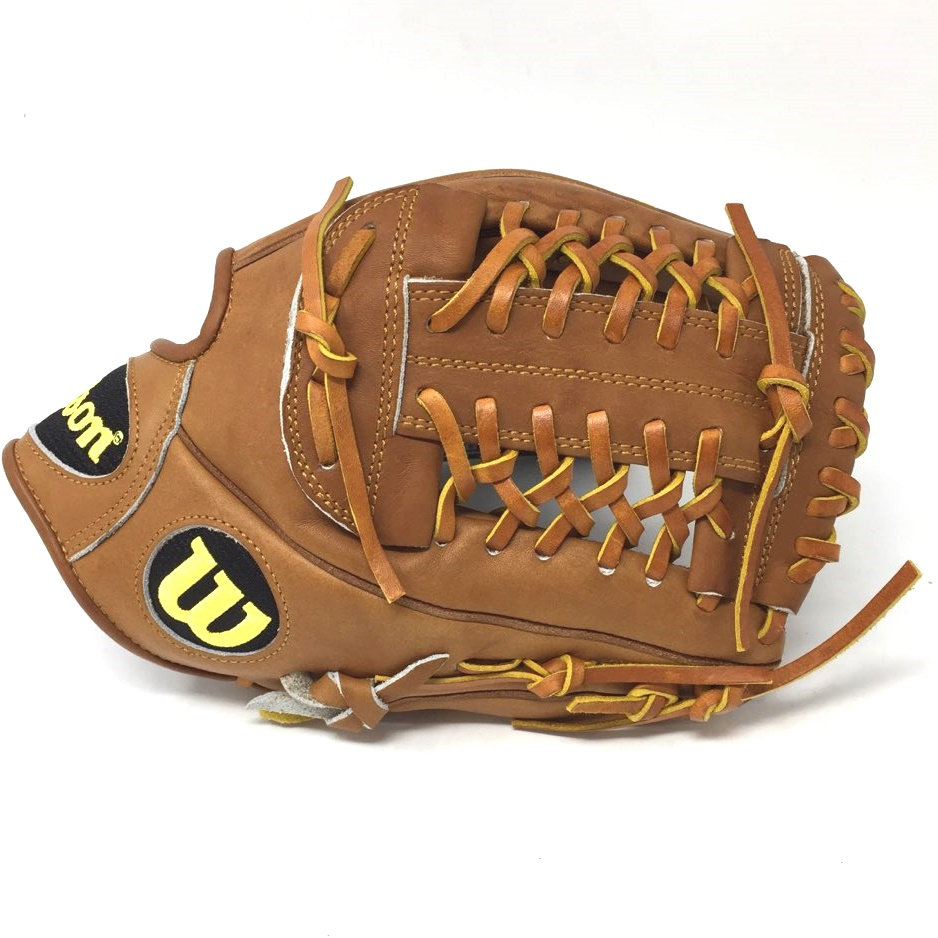 Oil Stanned Palm. 11.75 Pitcher Model Pro Laced T-Web Pro Stock(TM) Leather for a long lasting glove and a great break-in Dual Welting(TM) for a durable pocket DriLex Wrist Lining to keep your hand cool and dry