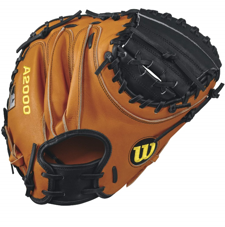 wilson-a2000-road-pudge-catchers-mitt-blackorange-tan-32-5inch-right-hand-throw A20RB17PUDGE-RightHandThrow Wilson 887768499433 A2000 Pudge - 32.5 Wilson A2000 PUDGE Catcher Baseball GloveA2000 PUDGE