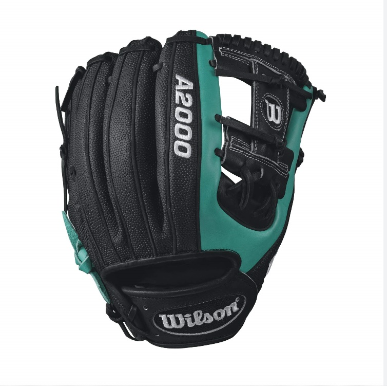 wilson-a2000-robinson-cano-game-model-baseball-glove-mariner-greenblack-11-right-hand-throw A20RB17RC22GM-RightHandThrow Wilson 887768499402 Robbies a Super Skin guy. He likes its lightness when hes