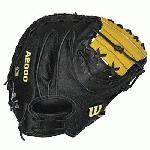 Wilson's Super Skin A2000 glove series Pro Stock Leather uses a stronger, lighter and softer man-made material, Super Skin. Super Skin is used on the back of the glove to shorten break in time, lower your reaction time and repel moisture and lighter weight. The Wilson A2000 baseball glove continues to evolve featuring Pro Stock Leather, known for its rugged durability and consistent performance and Dual-Welting for a stable, long lasting pocket.  Wilson A2000 baseball gloves use DRI-LEX Lining. An ultra breathable wrist lining that transfers moisture from the skin, keeping your hand cool and dry. Dual Welting. Pro Stock Leather from American Steerhides. Dri Lex Lining wicks away moisture. 34 Inch A2000 Catchers Glove. Extended Palm. Extra Large Pocket. Super Skin.
