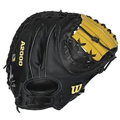wilson-a2000-ss-1790-baseball-catchers-mitt-black-yellow-34-in-right-handed-throw A2403BBSS1790-Right Hand Throw Wilson 887768117450 Wilsons Super Skin A2000 glove series Pro Stock Leather uses a