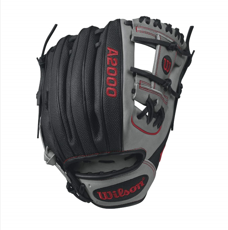 wilson-a2000-superskin-1788-baseball-glove-greyred-11-25inch-right-hand-throw A20RB171788SS-RightHandThrow Wilson 887768499396 A2000 1788 SS - 11.25 Wilson A2000 1788 Super Skin Infield