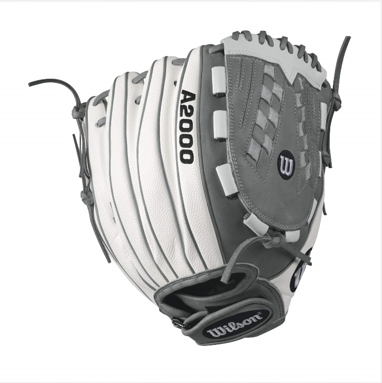 wilson-a2000-v125-white-superskin-fastpitch-glove-blackwhite-12-5inch-right-hand-throw A20RF17V125WS-RightHandThrow Wilson 887768499570 A2000 V125 WS - 12.5 Wilson A2000 V125 White Super Skin