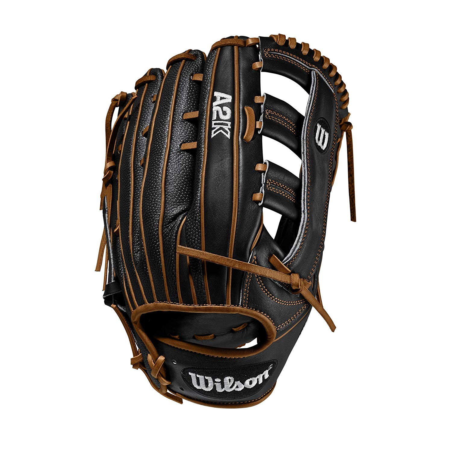 wilson-a2k-1775-12-75-baseball-glove-right-hand-throw WTA2KRB201775SS-RightHandThrow  887768815271 Wide Single Post Web and three times more shaping to help