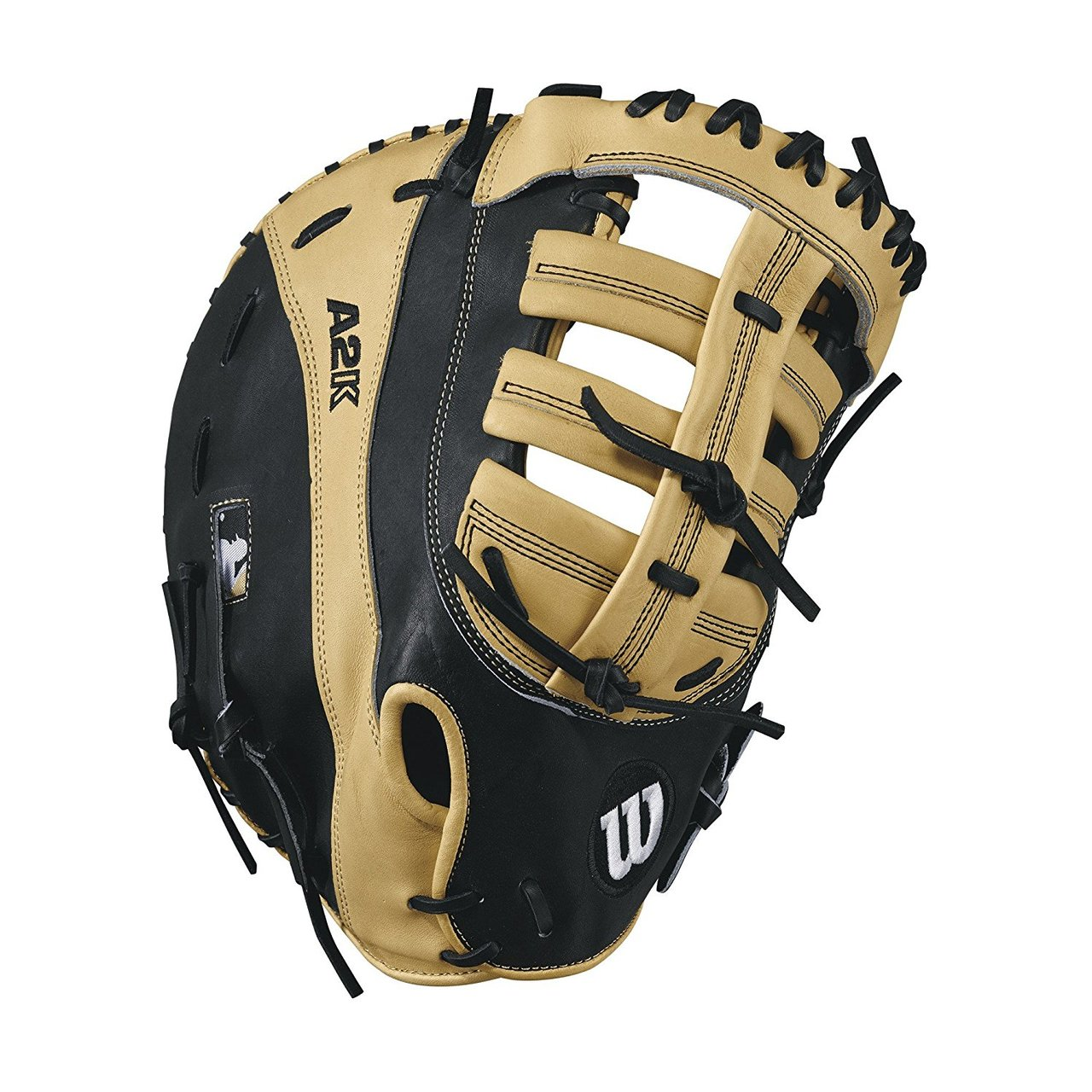 wilson-a2k-2800-12-inch-first-base-mitt-left-hand-throw WTA2KLB172800-LeftHandThrow Wilson 887768502058 Reinforced single post web Double heel break design Pro stock leather