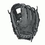 Wilson A2K Baseball Glove 1787 model 11.75 inch. 11.75 Inch Pattern Wilson Baseball Glove. 3X More Craftsman Shaping - Reduces Break-In, Ensures Ideal Pocket Structure. Color Black With Dark Grey And Red. Double Palm Construction - Prevents Premature Wearing of the Leather in the Palm. I-Web with Double X Laces. Ideal for Infield Play. Maximum Pocket Stability. Pro Stock Select Leather - Cut From Top 5% of All Wilson Leather Hides. Rolled Dual Welting - Allows Glove to Retain Shape Better Over Time.