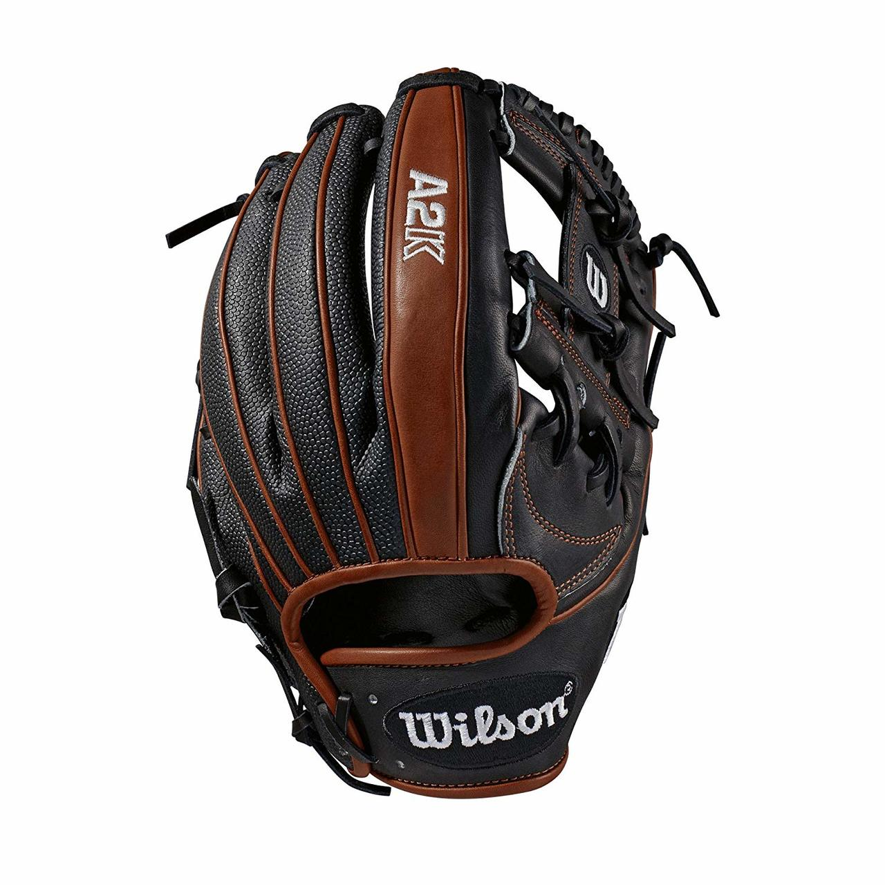 wilson-a2k-baseball-glove-1787ss-right-hand-throw-11-75-2019 WTA2KRB191787SS-RightHandThrow Wilson 887768701826 Infield model; H-Web Black SuperSkin twice as strong as regular leather