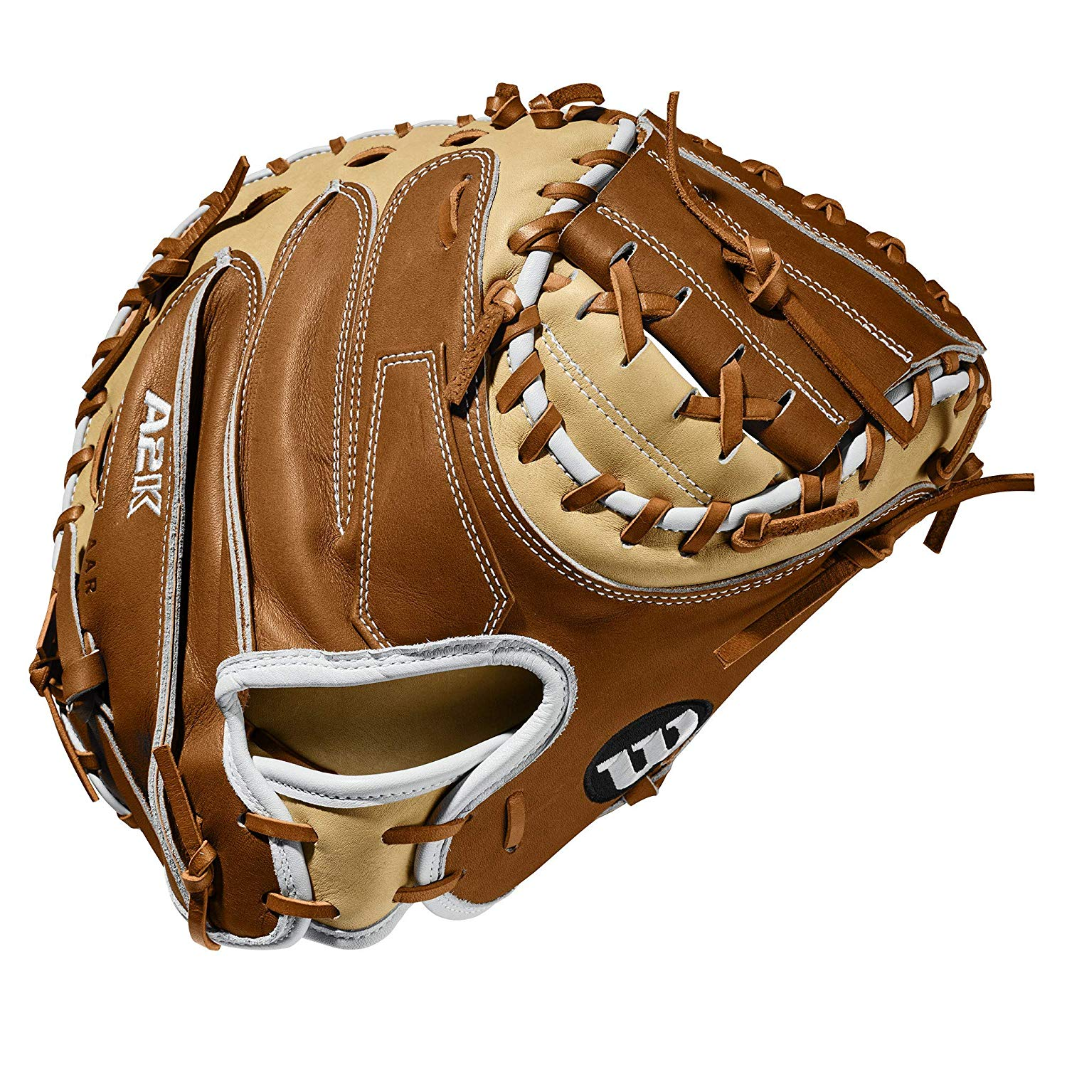 wilson-a2k-catchers-mitt-m1-33-5-right-hand-throw WTA2KRB20M1-RightHandThrow  887768815288 Half Moon Web and three times more shaping to help reduce