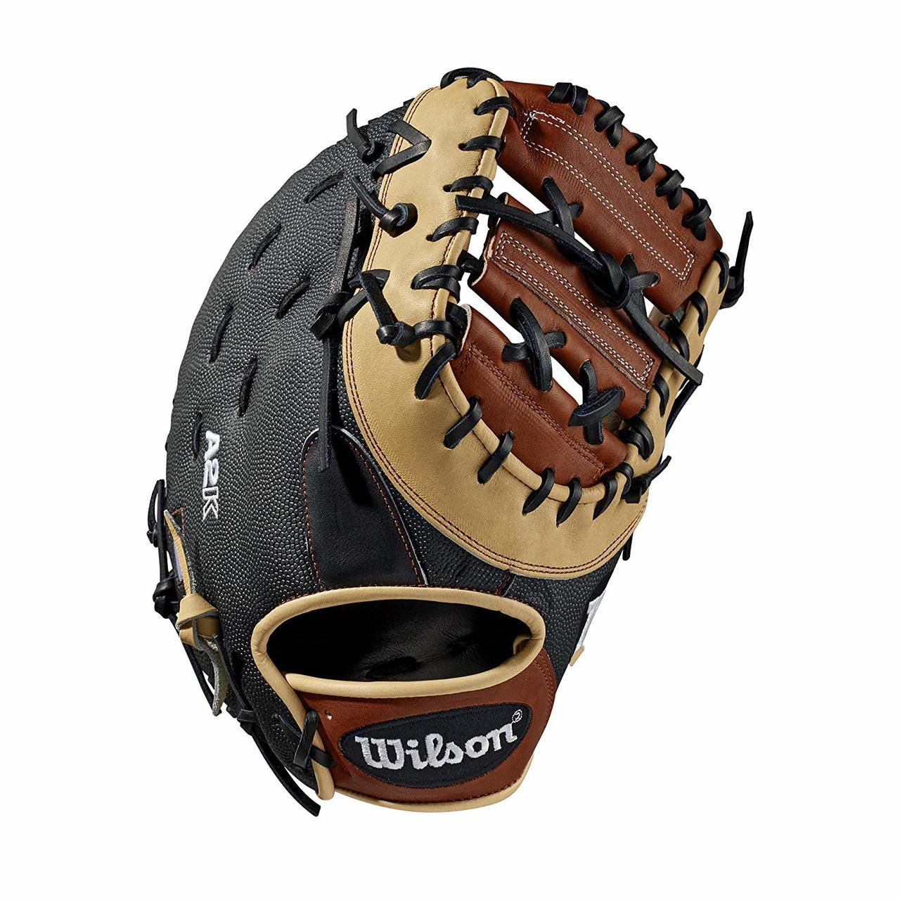 wilson-a2k-first-base-mitt-1617-ss-right-hand-throw-12-5 WTA2KRB191617SS-RightHandThrow  887768701871 First base model; double horizontal bar web; available in right- and